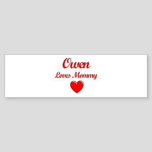 Owen Loves Mommy Bumper Sticker