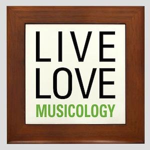 Live Love Musicology Framed Tile