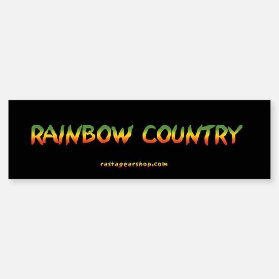 Rastagearshop Rainbow Country Bumper Bumper Bumper Sticker