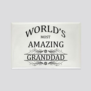 World's Most Amazing Granddad Rectangle Magnet