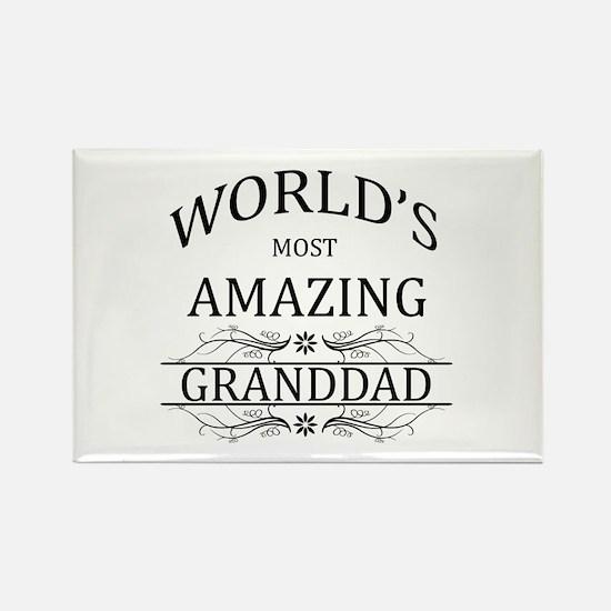 World's Most Amazing Granddad Rectangle Magnet