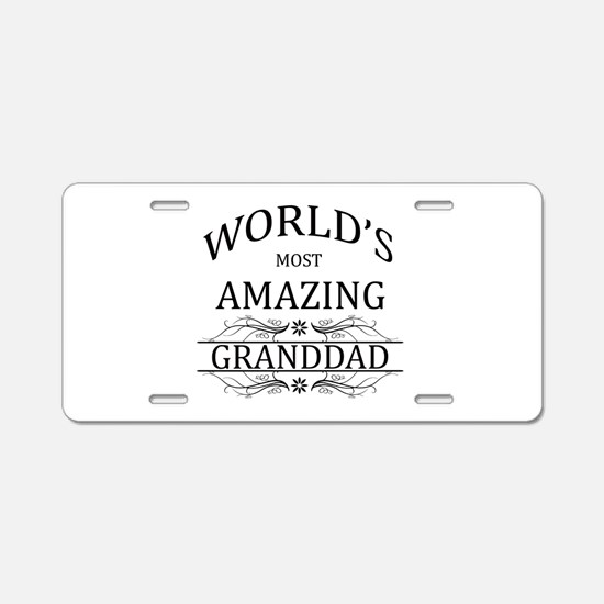 World's Most Amazing Grandd Aluminum License Plate