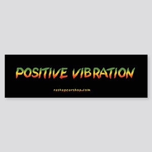 Rasta Gear Positive Vibration Bumper Sticker