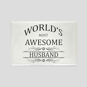 World's Most Amazing Husband Rectangle Magnet