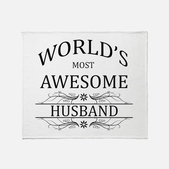 World's Most Amazing Husband Throw Blanket