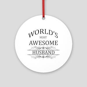 World's Most Amazing Husband Ornament (Round)