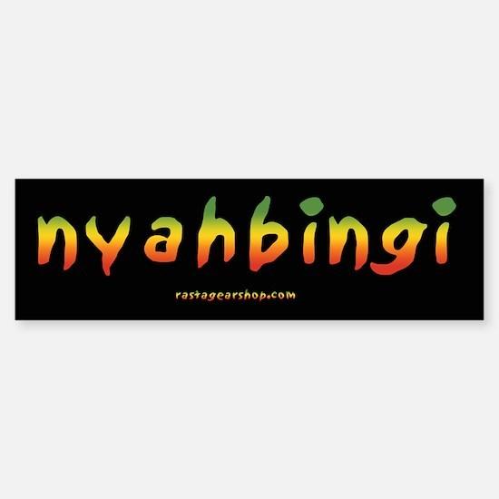 Rasta Gear Nyahbingi Bumper Bumper Bumper Sticker