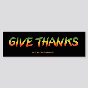 Rasta Give Thanks Bumper Sticker