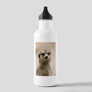 Happy Birthday Meerkat Water Bottle