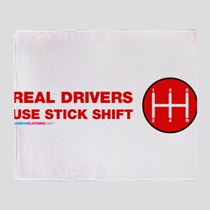 Real Drives Use Stick Shift Throw Blanket