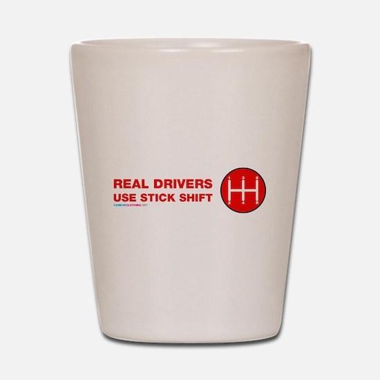 Real Drives Use Stick Shift Shot Glass
