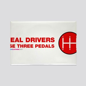 Real Drivers Use Three Pedals Magnets