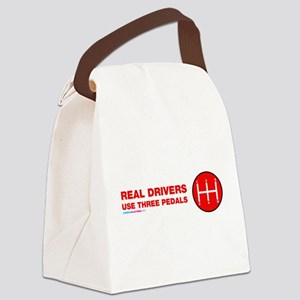 Real Drivers Use Three Pedals Canvas Lunch Bag