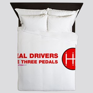 Real Drivers Use Three Pedals Queen Duvet