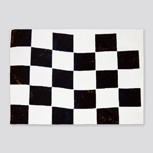 Checkered Flag 5'x7'Area Rug