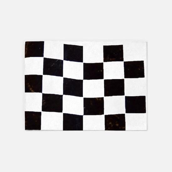 Checkered Flag 5'x7'Area Rug