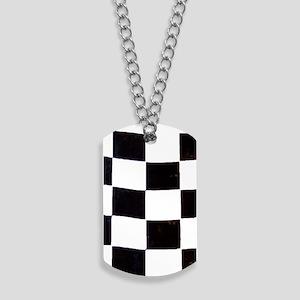 Checkered Flag Dog Tags
