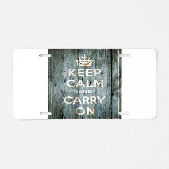 modern keep calm and carry on fashion Aluminum Lic