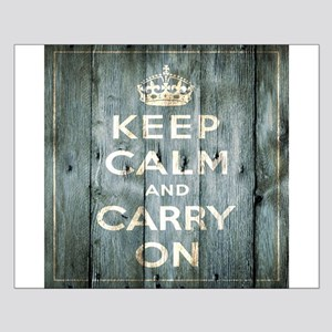modern keep calm and carry on fashion Small Poster