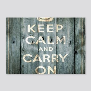 modern keep calm and carry on fashion 5'x7'Area Ru