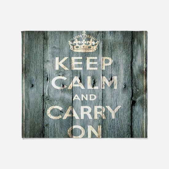 modern keep calm and carry on fashion Throw Blanke