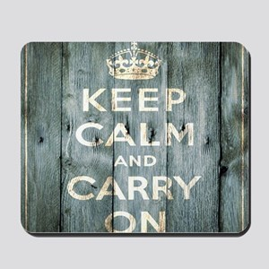 modern keep calm and carry on fashion Mousepad