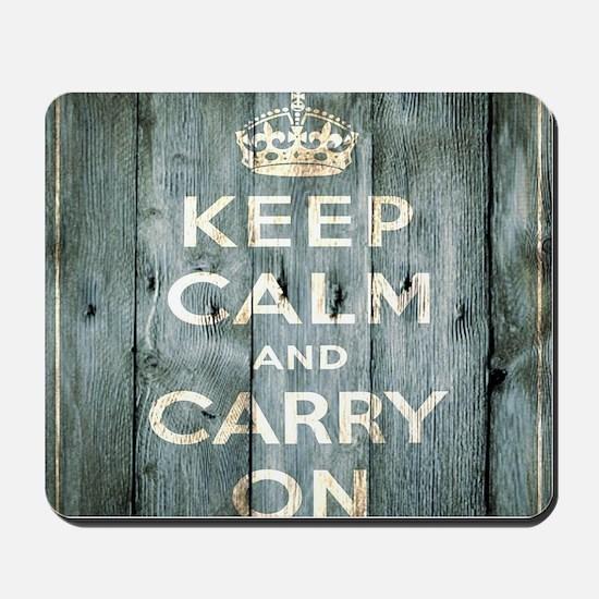 modern keep calm and carry on fashion Mousepad
