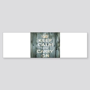 modern keep calm and carry on fashion Bumper Stick