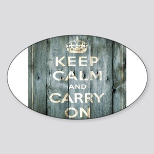 modern keep calm and carry on fashion Sticker