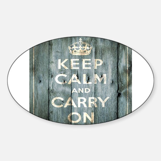 modern keep calm and carry on fashion Decal