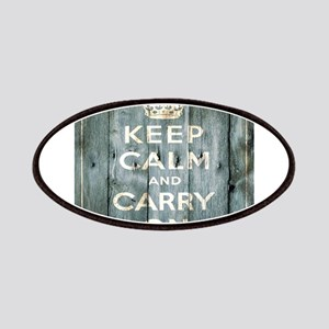 modern keep calm and carry on fashion Patches