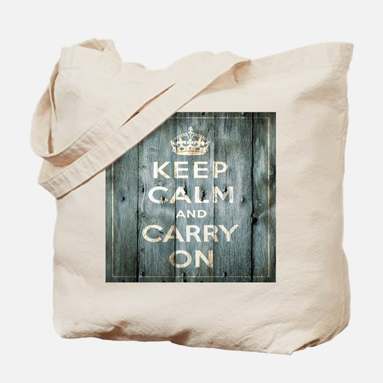 modern keep calm and carry on fashion Tote Bag