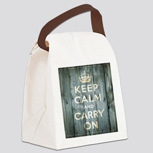 modern keep calm and carry on fashion Canvas Lunch