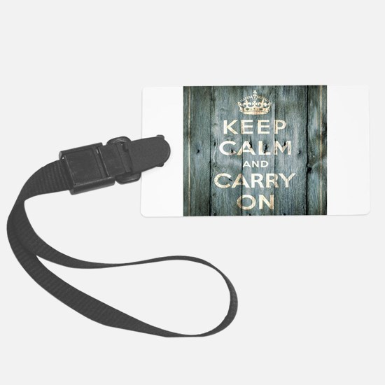 modern keep calm and carry on fashion Luggage Tag