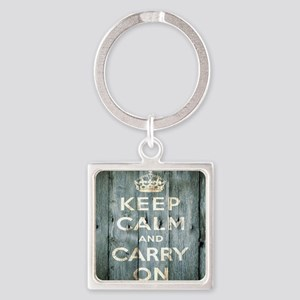modern keep calm and carry on fashion Keychains