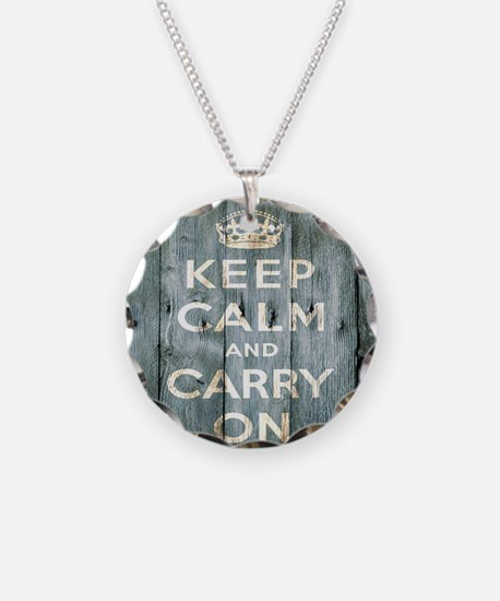 modern keep calm and carry on fashion Necklace