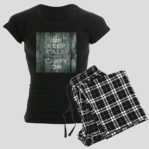 modern keep calm and carry on fashion pajamas
