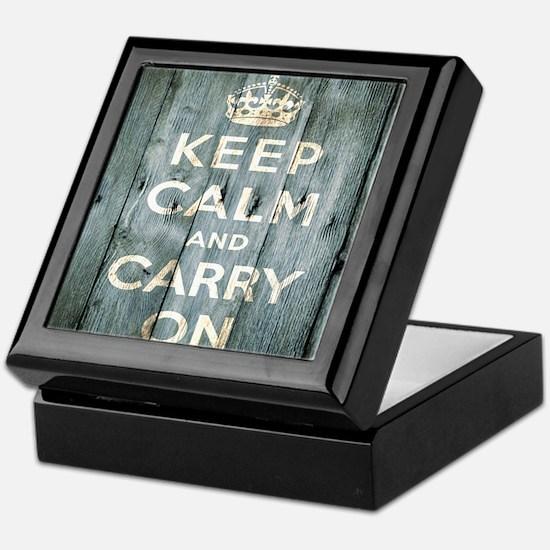 modern keep calm and carry on fashion Keepsake Box