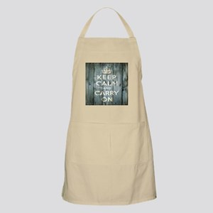 modern keep calm and carry on fashion Apron
