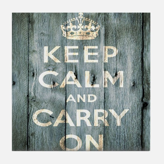 modern keep calm and carry on fashion Tile Coaster