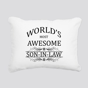 World's Most Amazing Son Rectangular Canvas Pillow