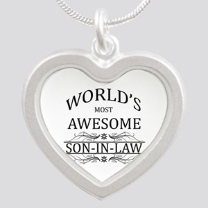 World's Most Amazing Son-In- Silver Heart Necklace