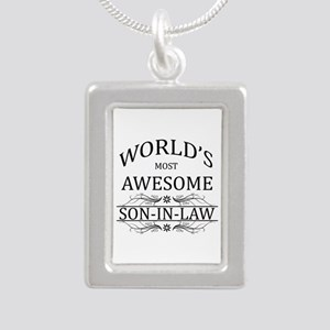 World's Most Amazing Son Silver Portrait Necklace