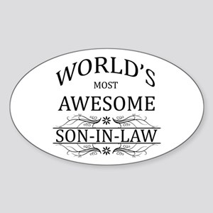 World's Most Amazing Son-In-Law Sticker (Oval)