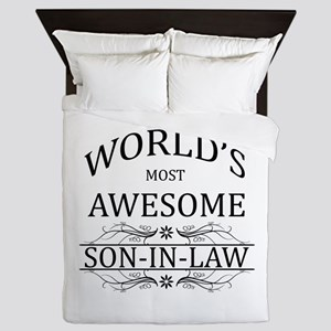 World's Most Amazing Son-In-Law Queen Duvet