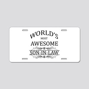World's Most Amazing Son-In Aluminum License Plate