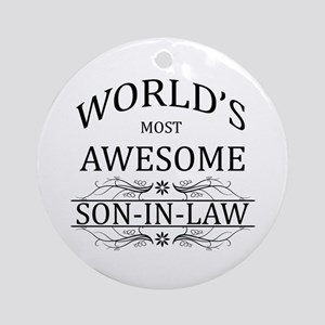 World's Most Amazing Son-In-Law Ornament (Round)