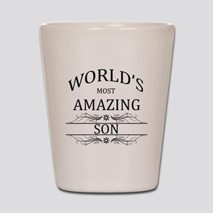 World's Most Amazing Son Shot Glass