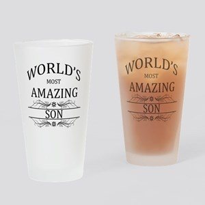 World's Most Amazing Son Drinking Glass