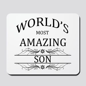 World's Most Amazing Son Mousepad
